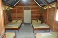 Isadou inside lodge