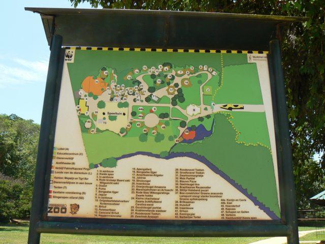 Paramaribo Zoo plattegrond