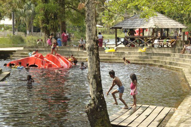Zwemmen bij Colakreek