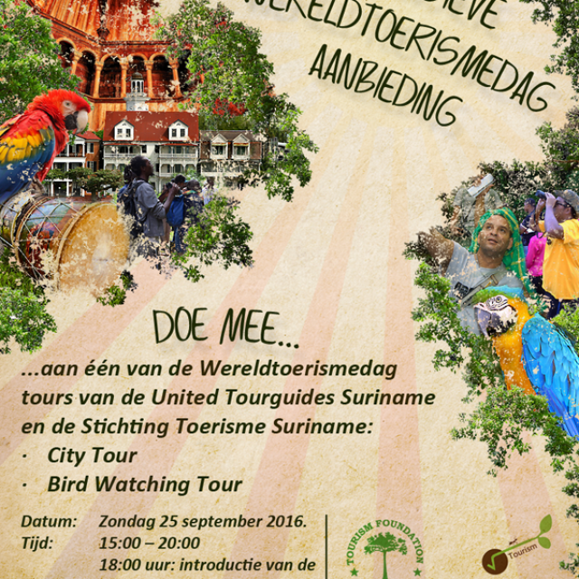 World Tourism Day Suriname – sunday 25th September