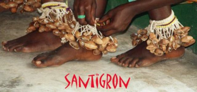 Santigron anklets with text