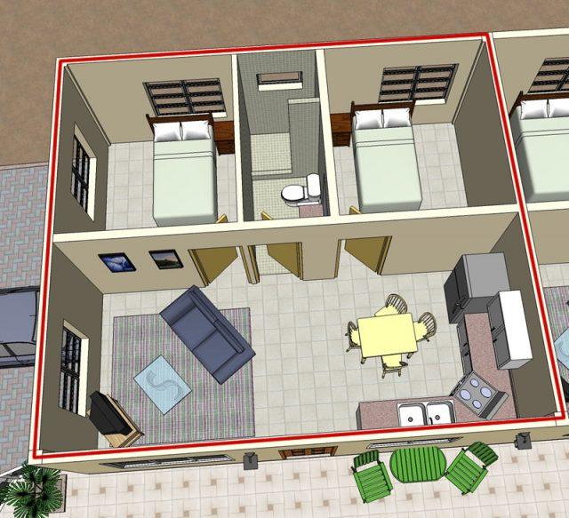 2 slaapkamers appartement