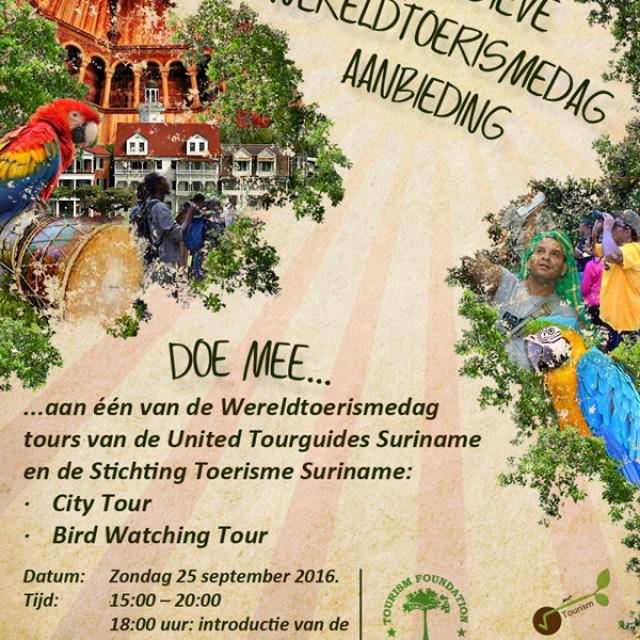 World Tourism Day Suriname – sunday 25th September